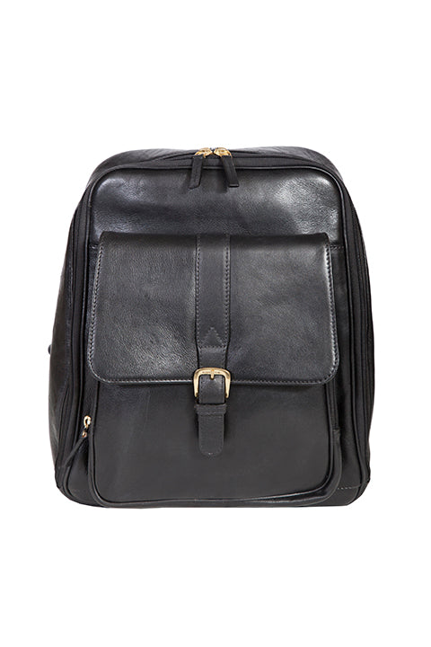 Scully Leather Laptop Business Backpack Black
