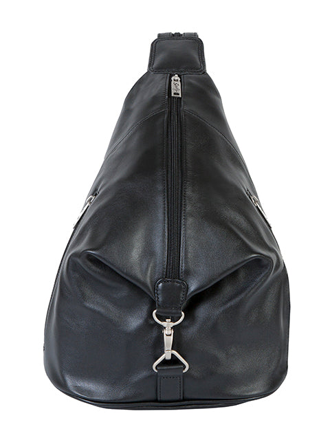 Scully Leather Sierra Sling/Backpack Shoulder Bag Black