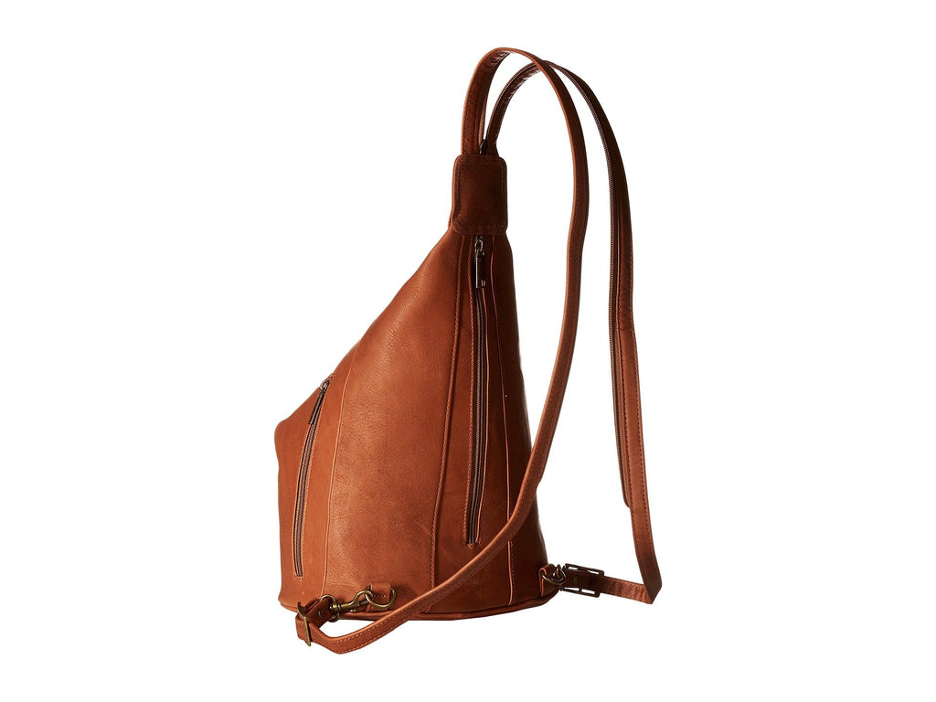 Scully Leather Sierra Sling/Backpack Shoulder Bag Brown