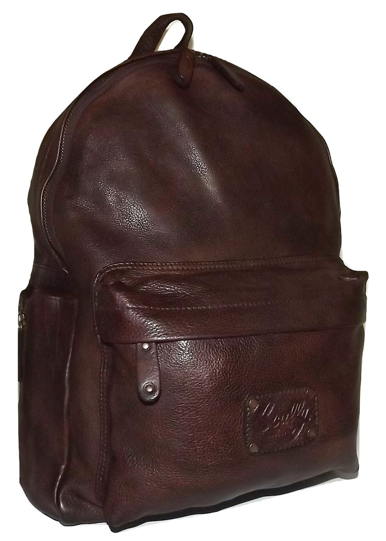 Scully Leonardo Italian Leather Laptop Business Backpack Brown