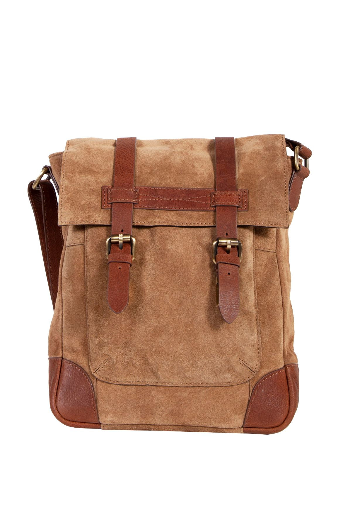 Scully Retro Nubuck Leather Cargo Messenger Tablet Bag