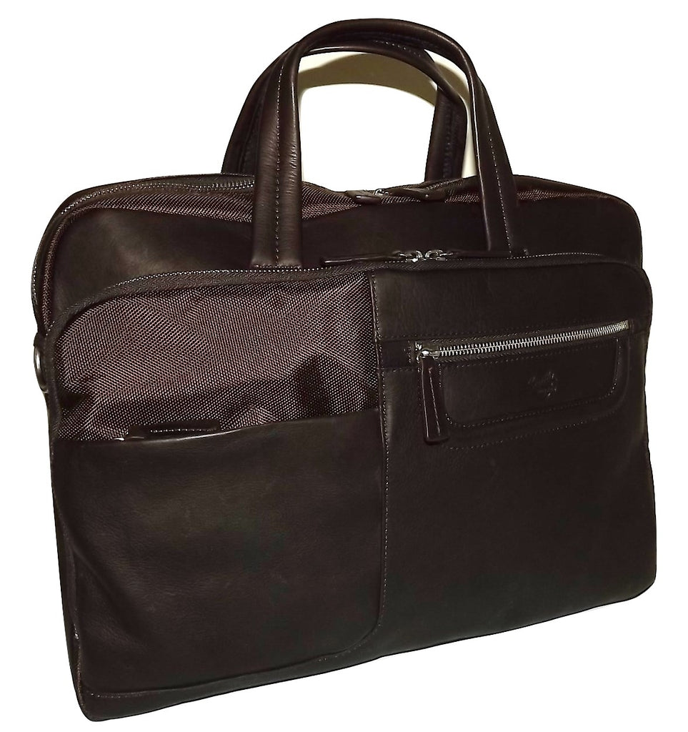 Scully Nylon and Leather Briefcase Work Bag