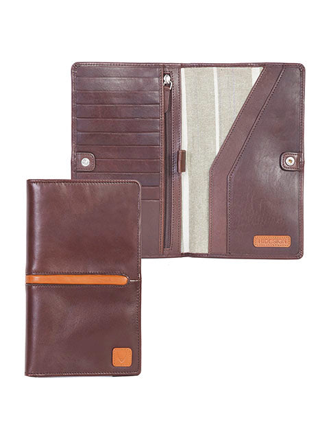 Scully Hidesign Breast Pocket Passport Travel Wallet Brown