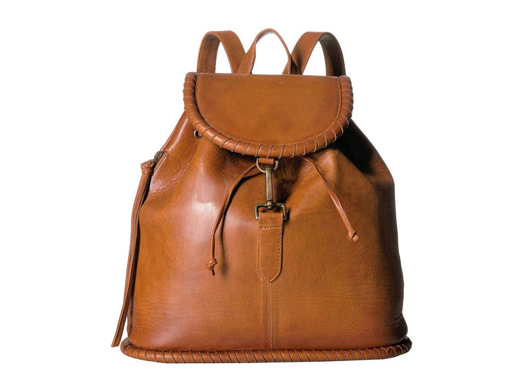 Scully Sangria Whipstitch Backpack Brown