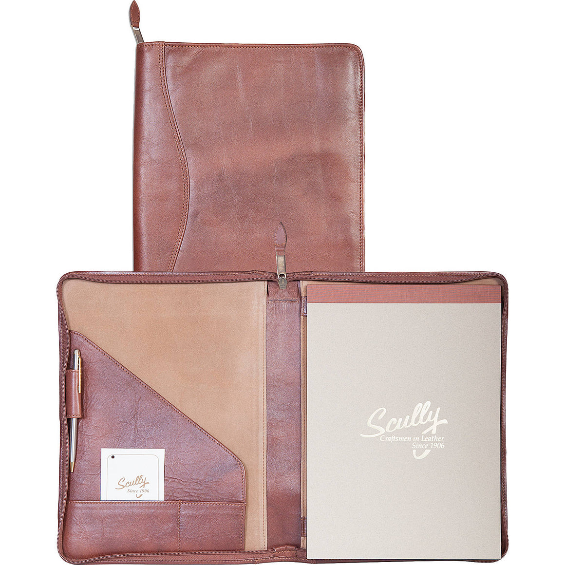 Scully Leather Sierra Writing Pad Brown