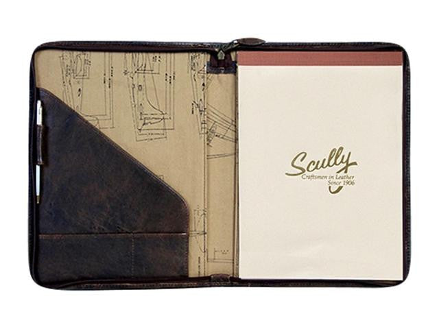 Scully Aero Squadron Vintage Leather Writing Padfolio