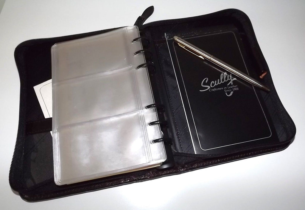 Scully Leather Phone Address Book