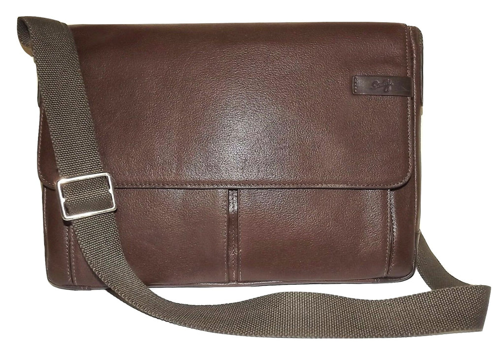 Scully Leather Travolta Laptop Messenger Briefbag Brown