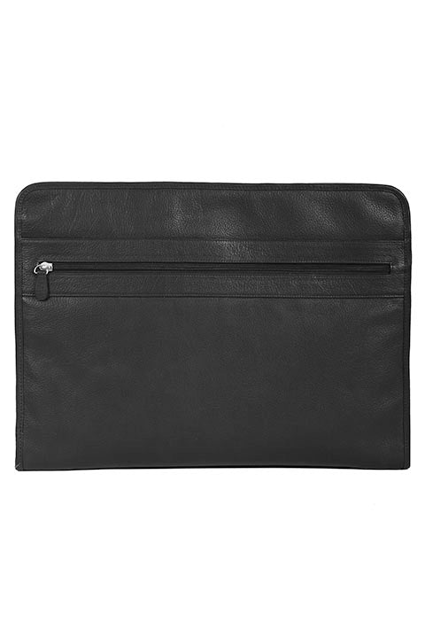 Scully Leather Zippered Business Portfolio with Tablet Pocket Black