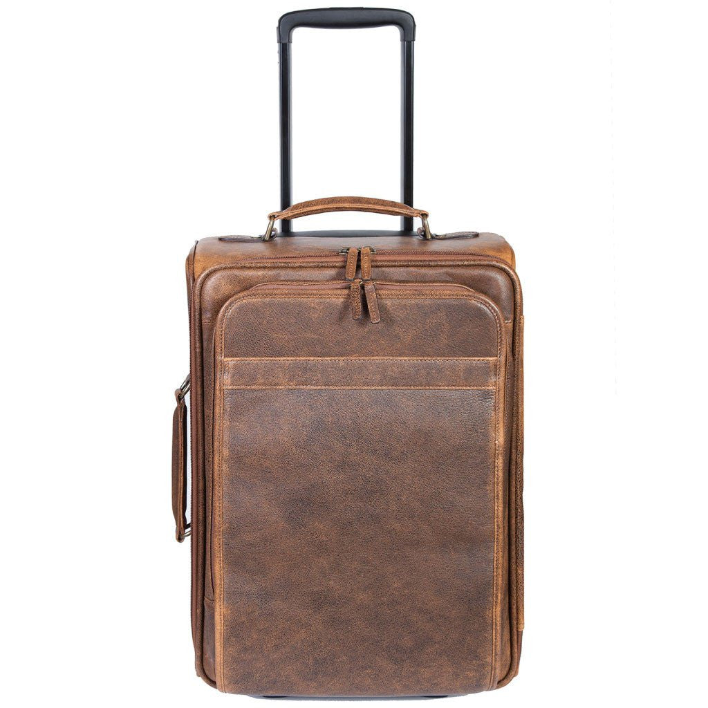 Scully Aero Squadron Carry-on Luggage Brown