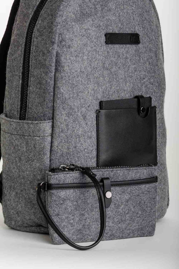 "Sherpani Women's Indie 11"" Laptop Backpack with Wallet Slate Grey"