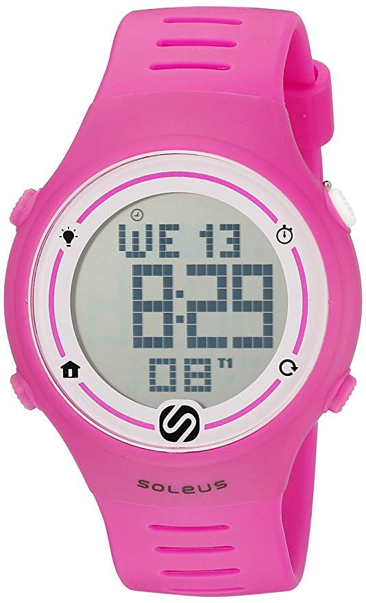 Soleus Women's Sprint Digital Runner's Watch with Interval Timer Pink