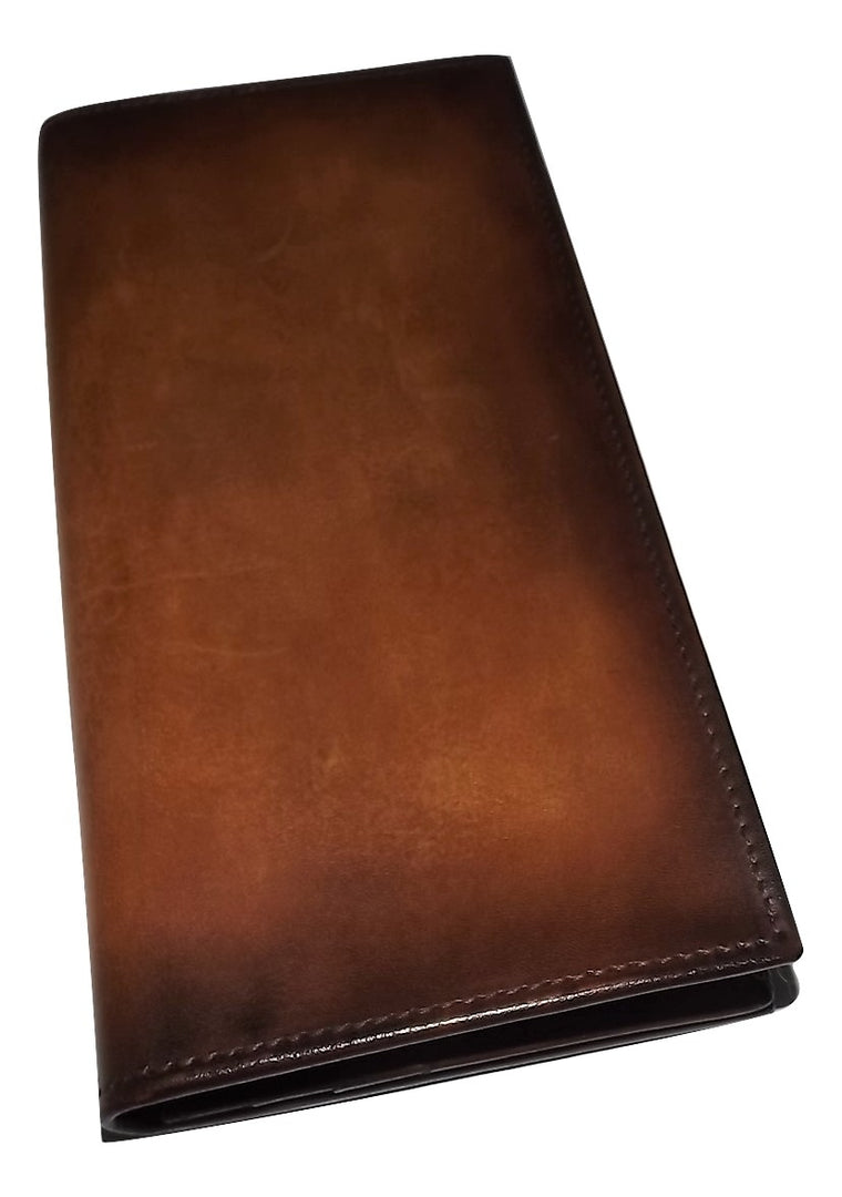 Spernanzoni Luxe Italian Leather Breast Pocket Wallet Amber