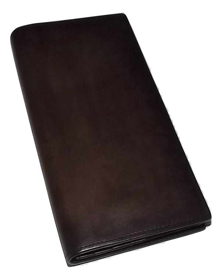 Spernanzoni Luxe Italian Leather Breast Pocket Wallet Espresso