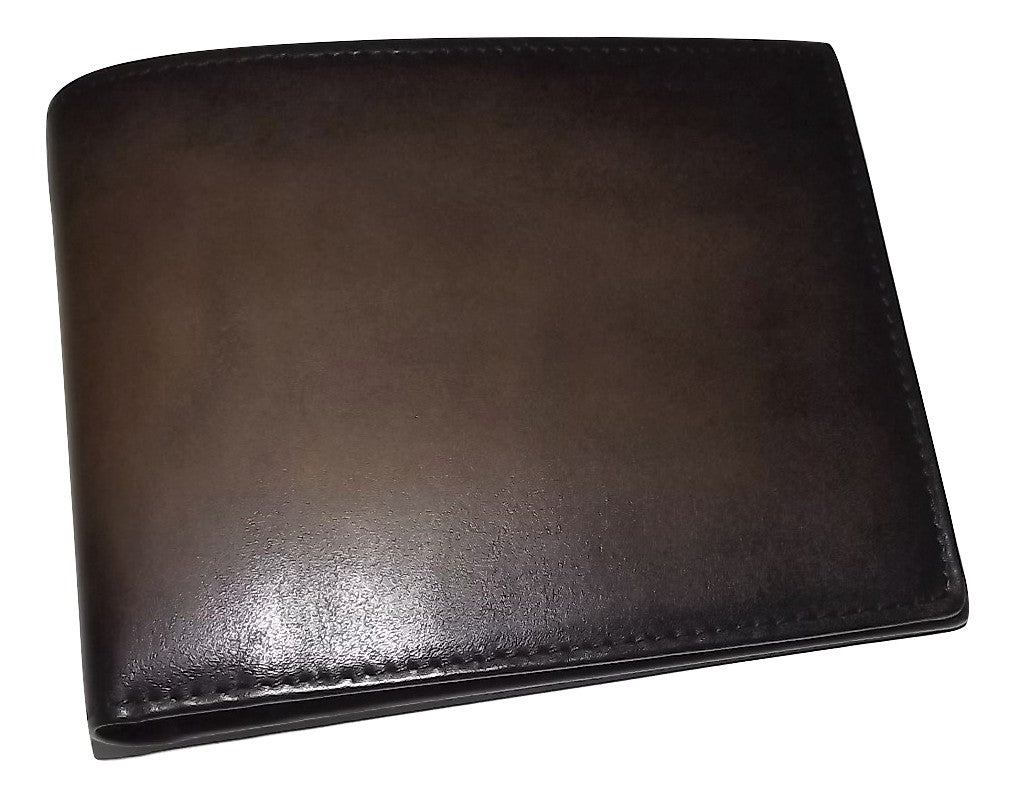 Spernanzoni Luxe Italian Leather Bifold 8 Pocket Wallet Mocha