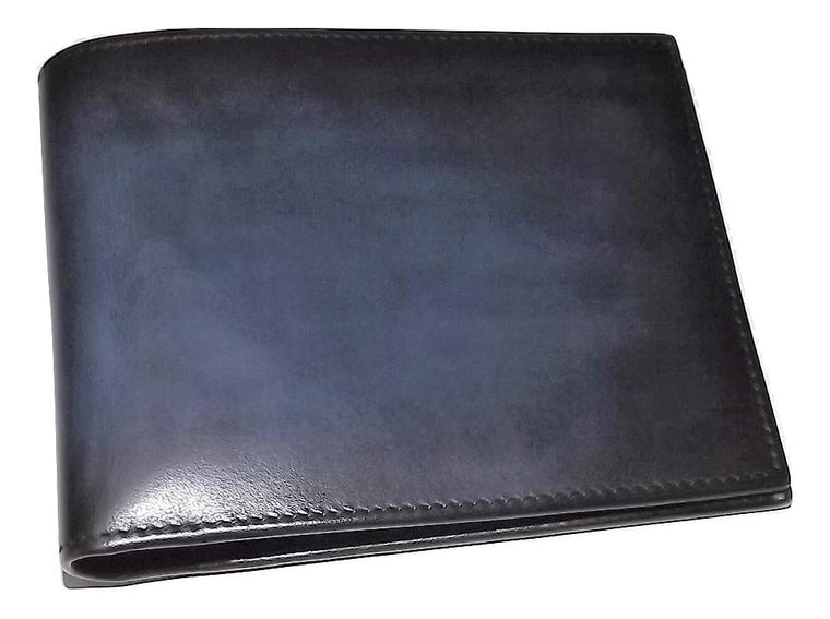 Spernanzoni Luxe Italian Leather Bifold 8 Pocket Wallet Ocean
