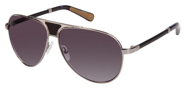 Sperry Top-Sider Unisex Montauk Aviator Sunglasses Silver Frame Grey Gradient Lens