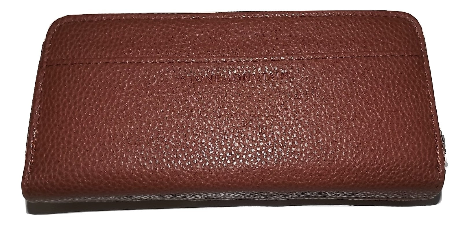 Stone Mountain Women S Leather Zip Checkbook Clutch Wallet Brown