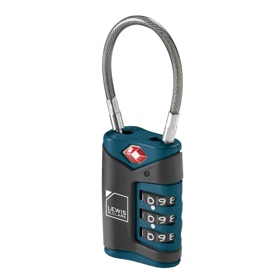 Lewis N Clark TSA Approved Luggage Cable Combination Lock