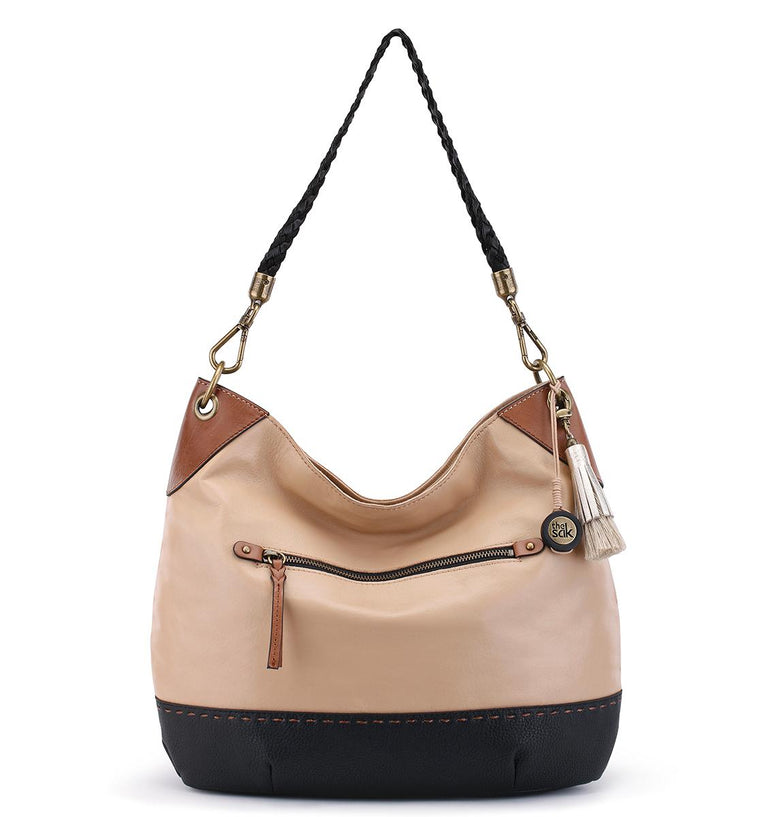 The Sak Indio Leather Hobo Sierra Block