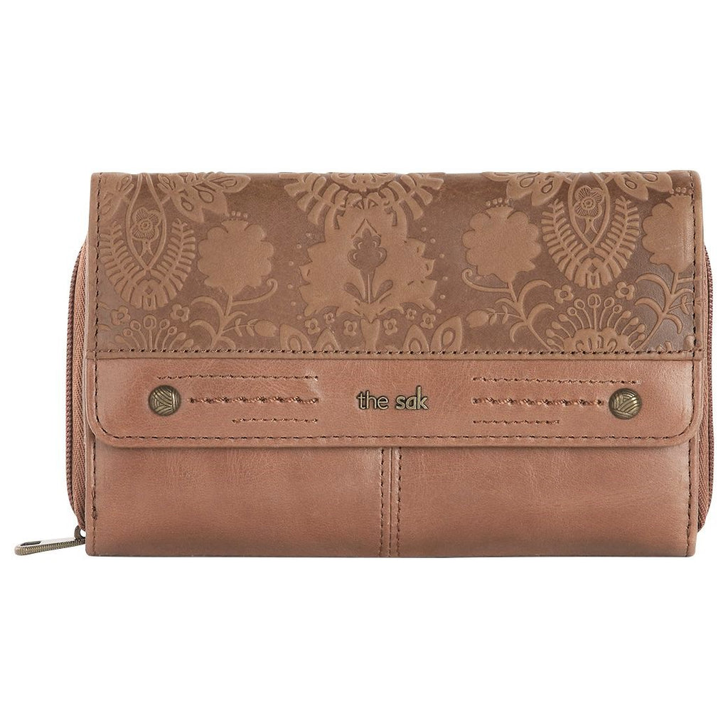 The Sak Sequoia Extra Large Tab Flower Embossed Clutch
