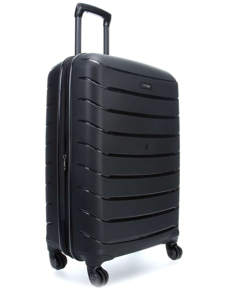 "Titan Limit 30"" Upright 4 Wheel Spinner Luggage Black"
