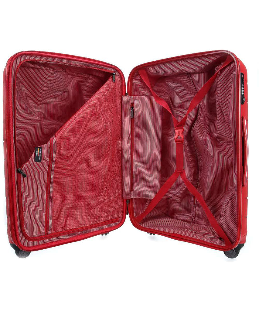 "Titan Limit 30"" 4 Wheel Spinner Luggage Red"
