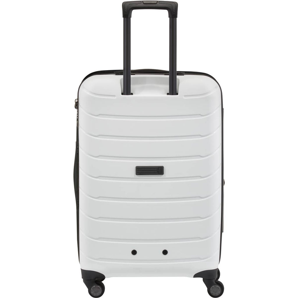 "Titan Limit 30"" Upright 4 Wheel Spinner Luggage White"