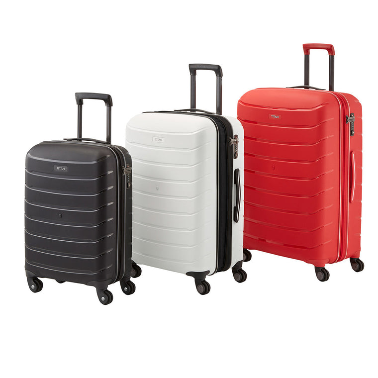 Titan Limit 4 Wheel Spinner Luggage Collection 3 Colors