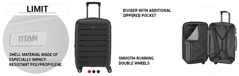 Titan Limit 4 Wheel Spinner Luggage Details