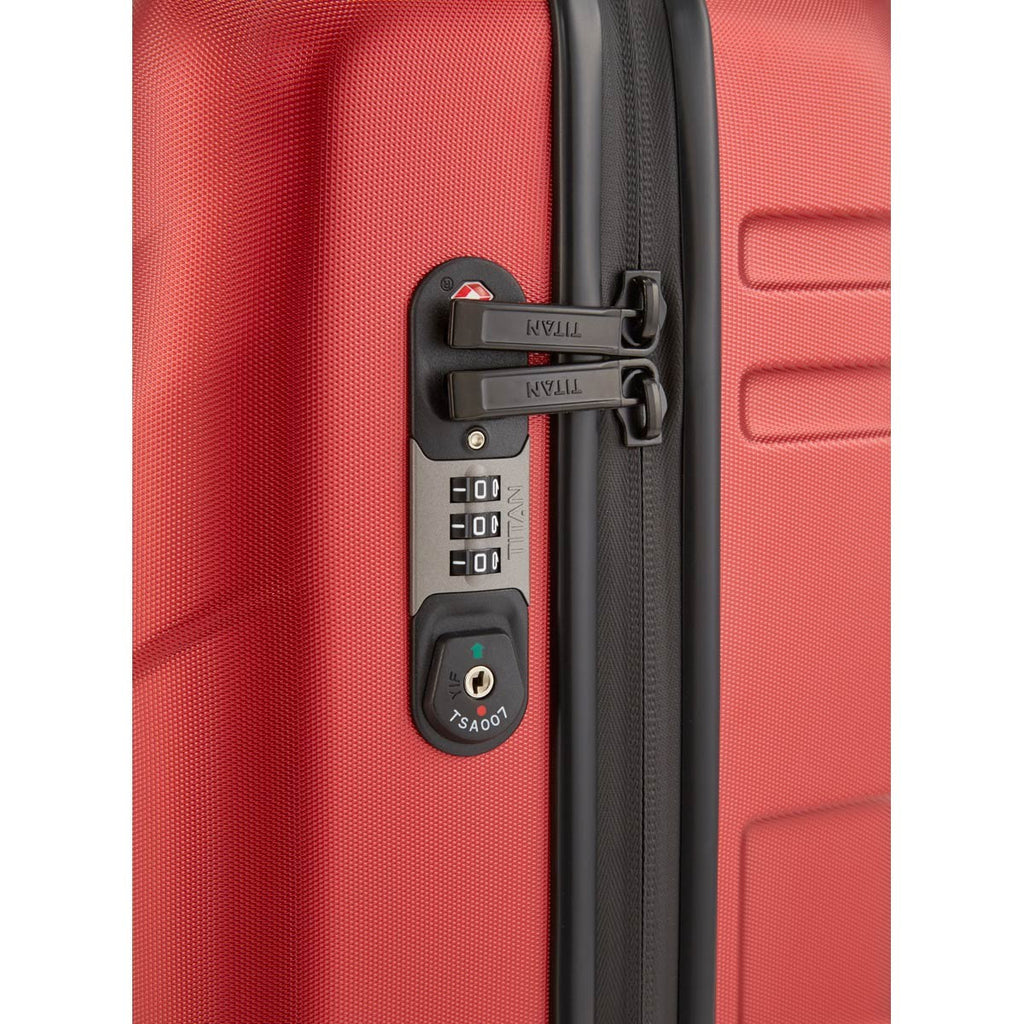 "Titan Prior 22"" Carry-on Luggage Sunset Red"