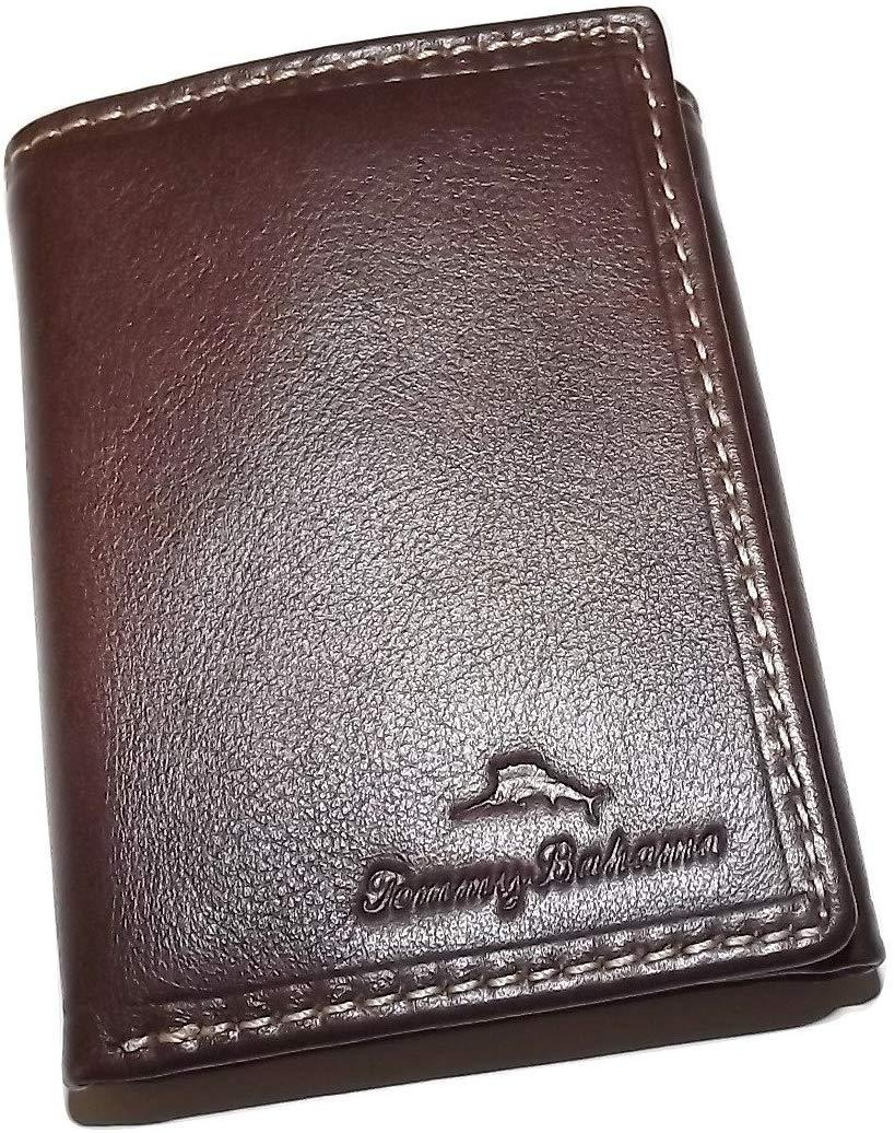 Tommy Bahama Leather Trifold Wallet Brown