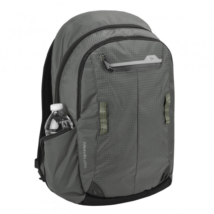 Travelon Anti-Theft Active Laptop Backpack Charcoal Grey