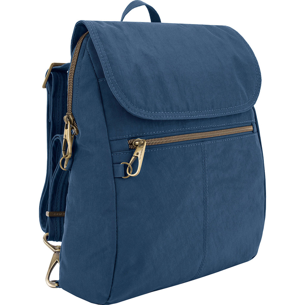 Travelon Anti-Theft Signature Slim Backpack Ocean