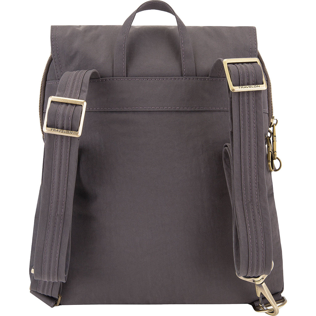 Travelon Anti-Theft Signature Slim Backpack Smoke Grey