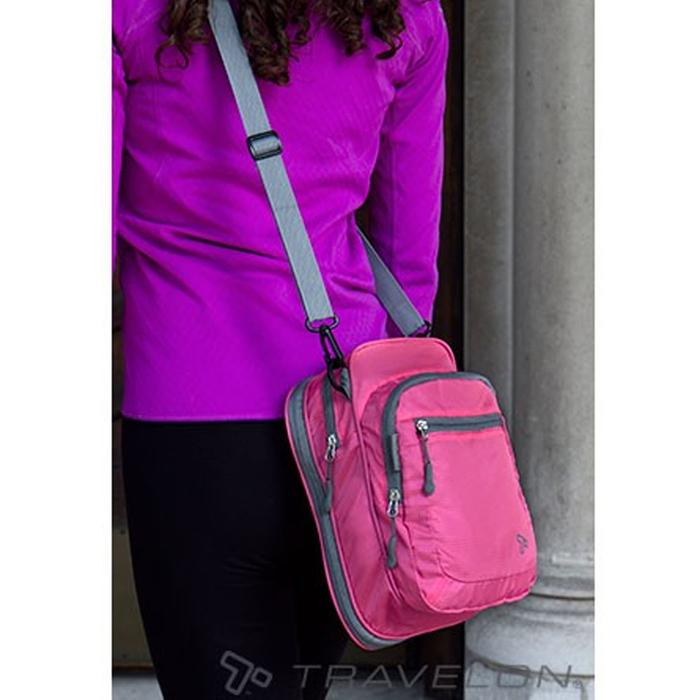 Travelon Convertible Crossbody Duffel Berry