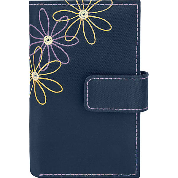 Travelon Daisy Collection Trifold RFID Wallet Black