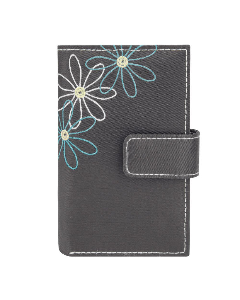 Travelon Daisy Collection Trifold RFID Wallet Pewter