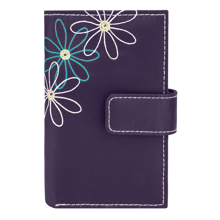 Travelon Daisy Collection Trifold RFID Wallet Purple
