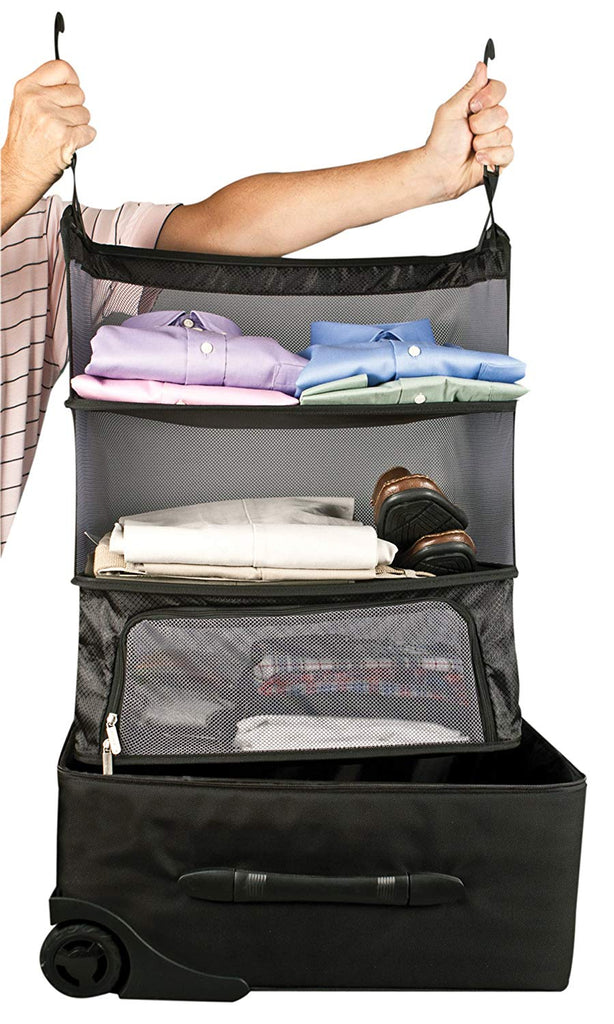 Travelon Deluxe Packable Hanging Shelves Black