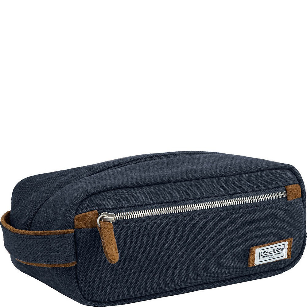 Travelon Heritage Top Zip Toiletry Travel Shave Kit