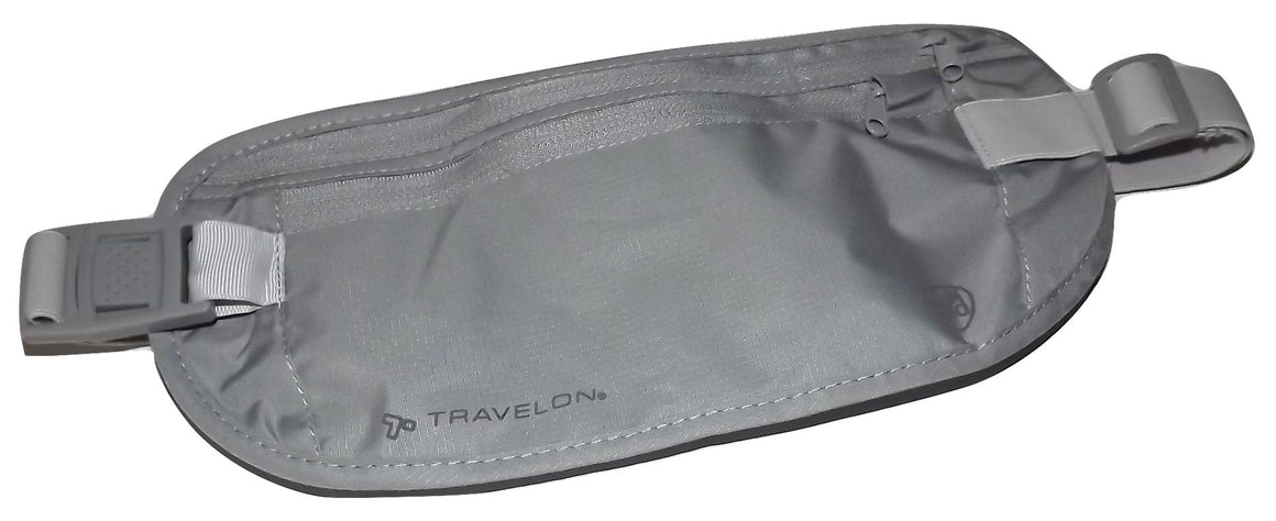 Travelon Undercover RFID Blocking Travel Waist Security Wallet Grey