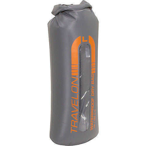 Travelon Self Seal Travel Dry Bag for Camping Hiking Beach Orange Large Size