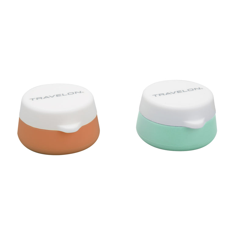 Travelon Set of 2 Silicone Travel Jars for Liquids Creams or Pills