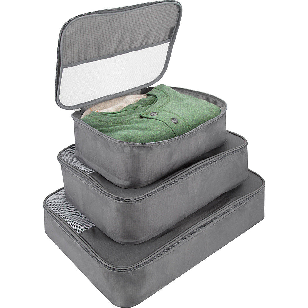 Travelon Set of 3 Packing Cubes Grey