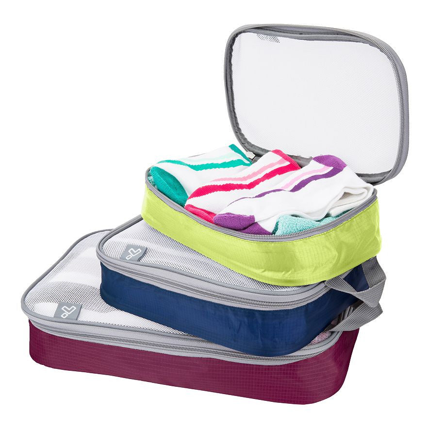 Travelon Set of 3 Packing Organizers Bolds