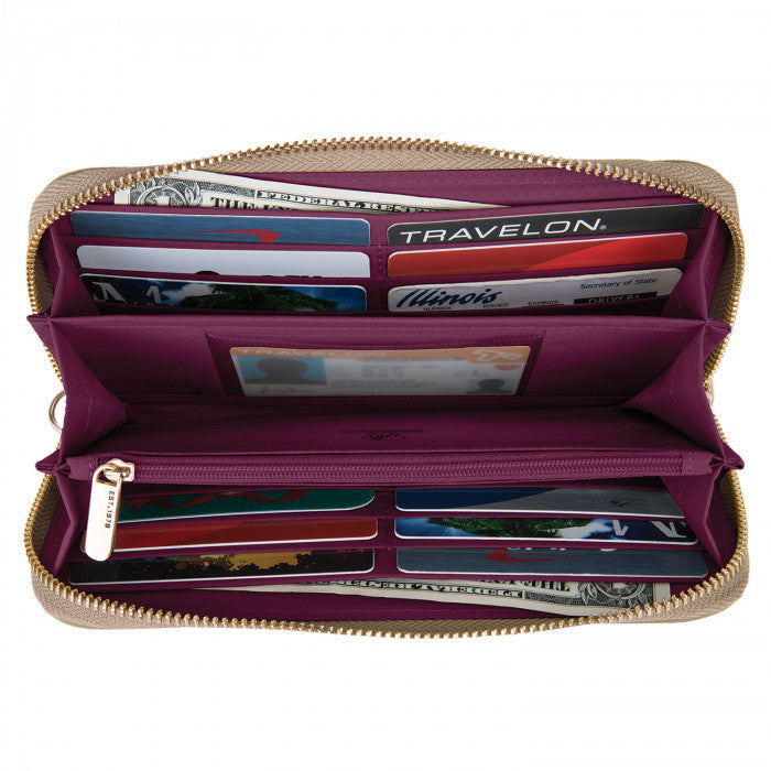 Travelon Nylon RFID Blocking Wristlet Wallet