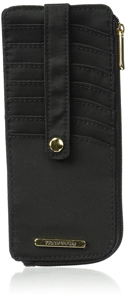 Travelon Slim RFID Credit Card Stacker Wallet Black