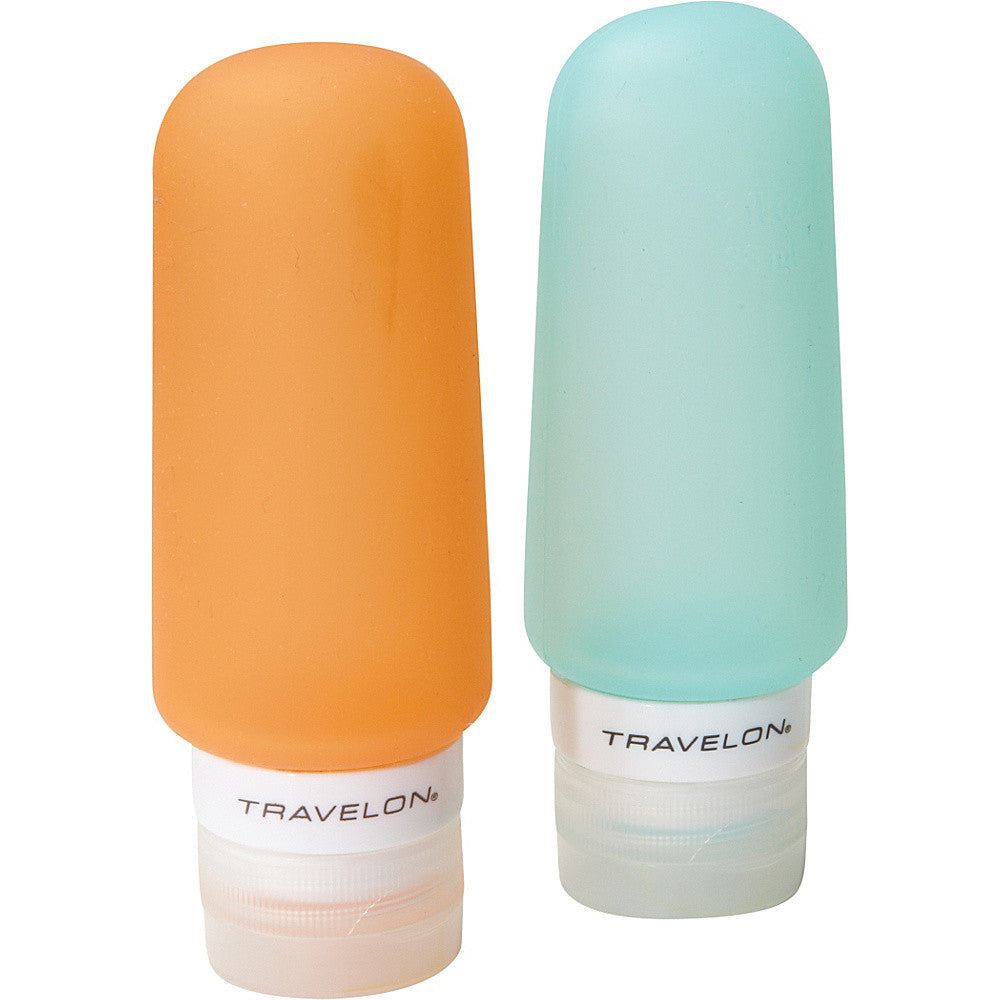 Travelon Go Tubes 3 Ounce Liquid Travel Bottle Holders Set of 2