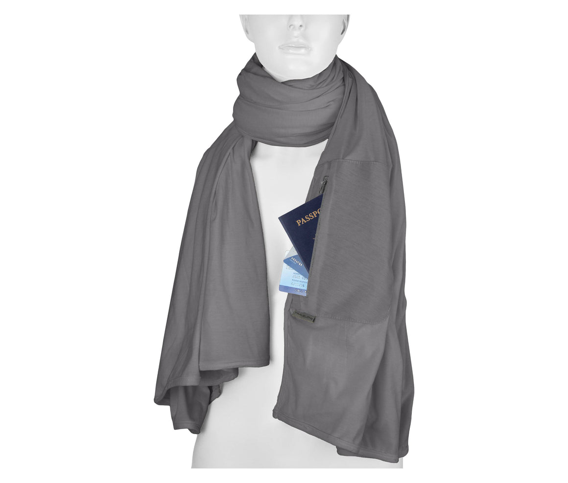 Travelon RFID Blocking Travel Scarf Raspberry